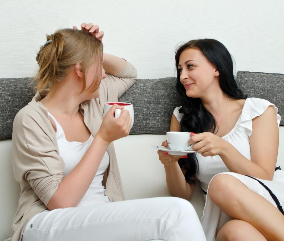 Talking in an informal setting can help a person feel more comfortable.