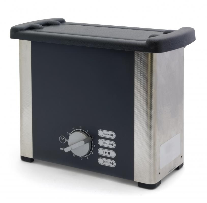 An ultrasonic jewelry cleaner.