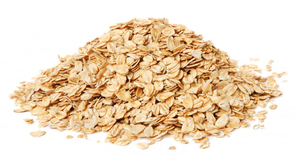 Uncooked oats for whole grain oatmeal.