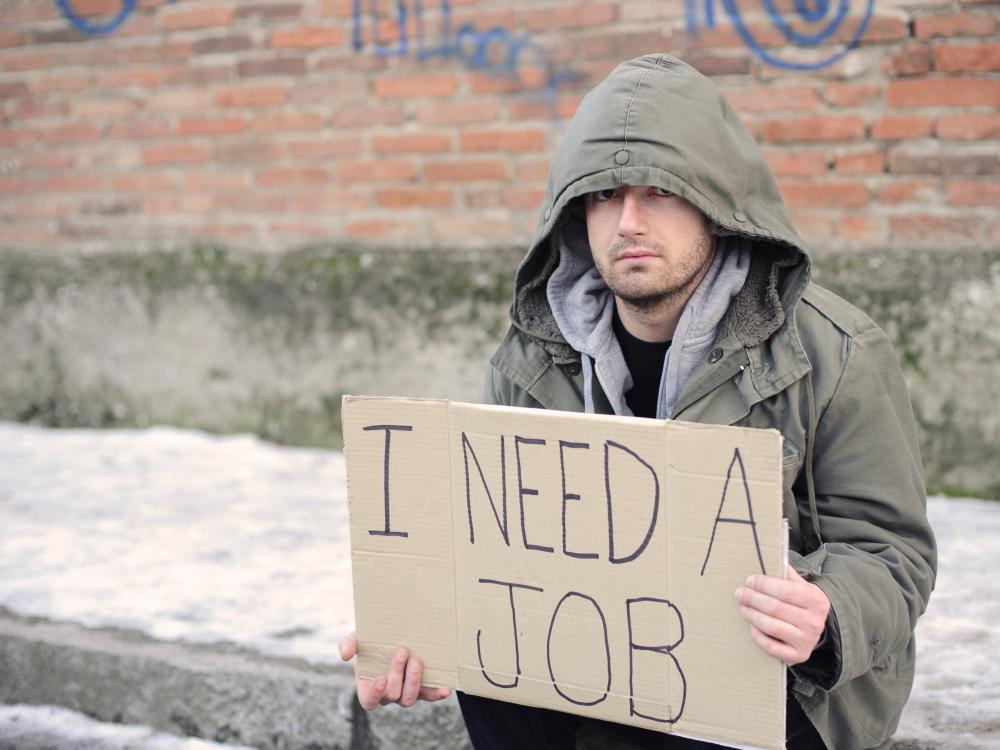 Unemployment numbers increase during a recession or depression.