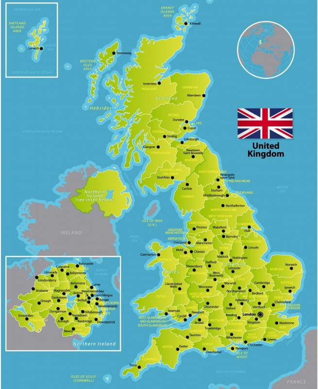 The United Kingdom Is Comprised Of England Scotland And North Eastern Ireland