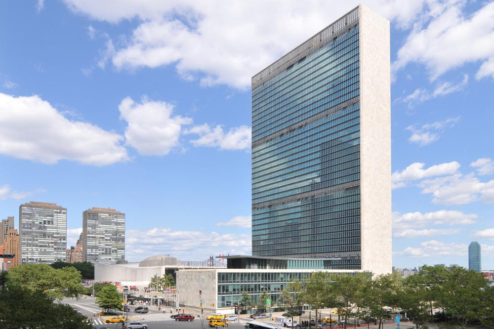 The United Nations, which is headquartered in New York City, was formed when its first members accepted the U.N. Charter in 1945.