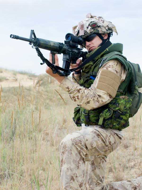 U.S. Army and U.S. Marine Corps officers may be tasked with leading troops in ground combat operations.