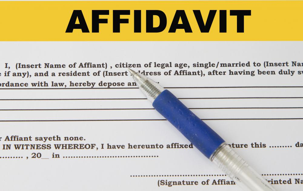 What are the Different Types of Affidavit? (with pictures)