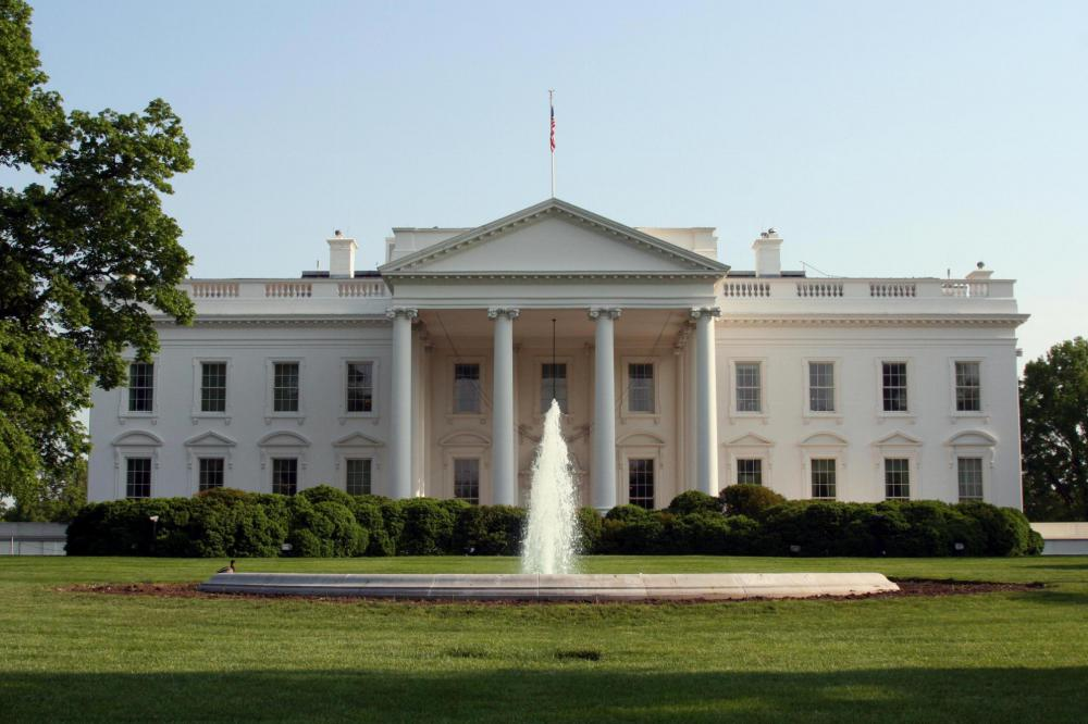 The White House, home of the president of the United States, who is chosen by the Electoral College.