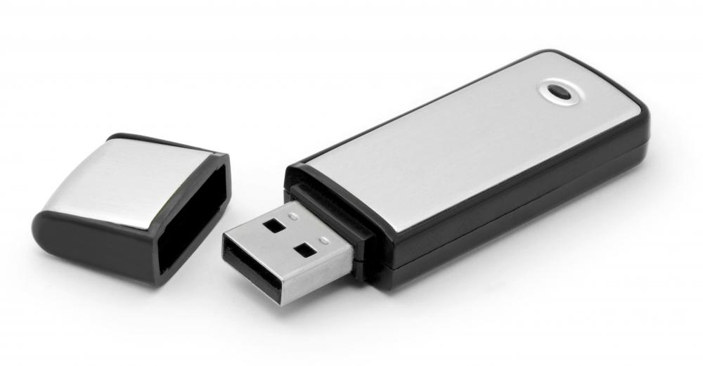 A USB flash drive.