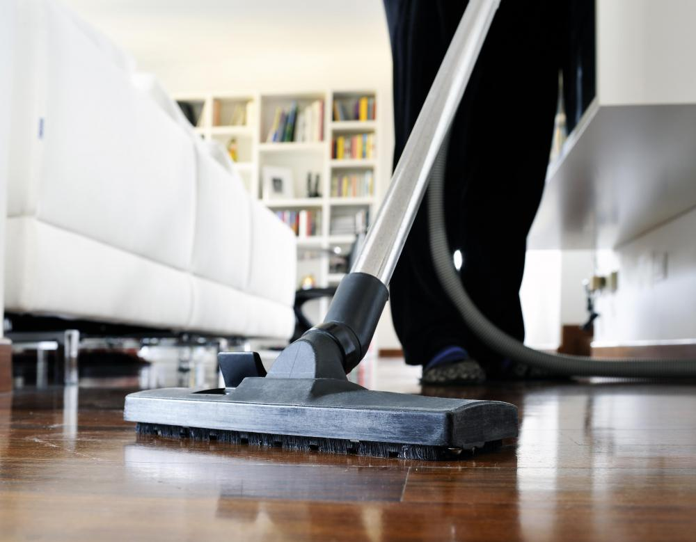 Wood floors can be cleaned with a vacuum.