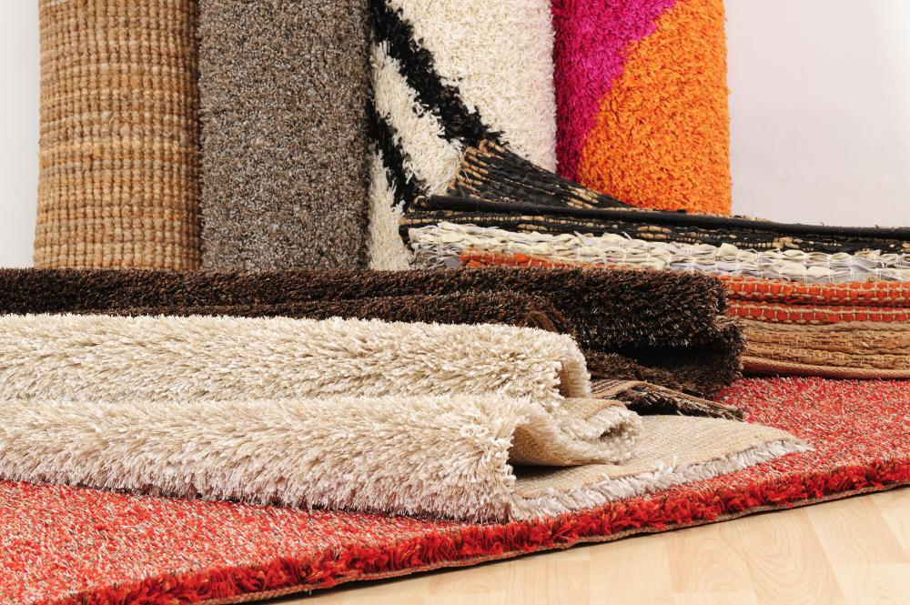 Make sure the rug chosen for a laundry room has a non-slip surface.