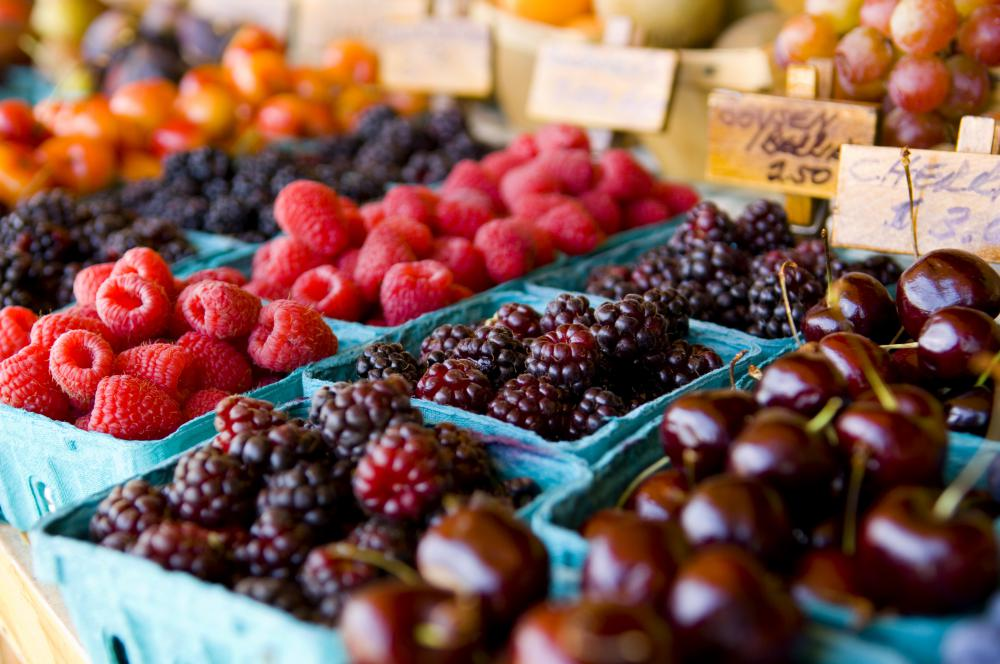 Dark purple berries, as well as blue and red berries, are high in antioxidants.