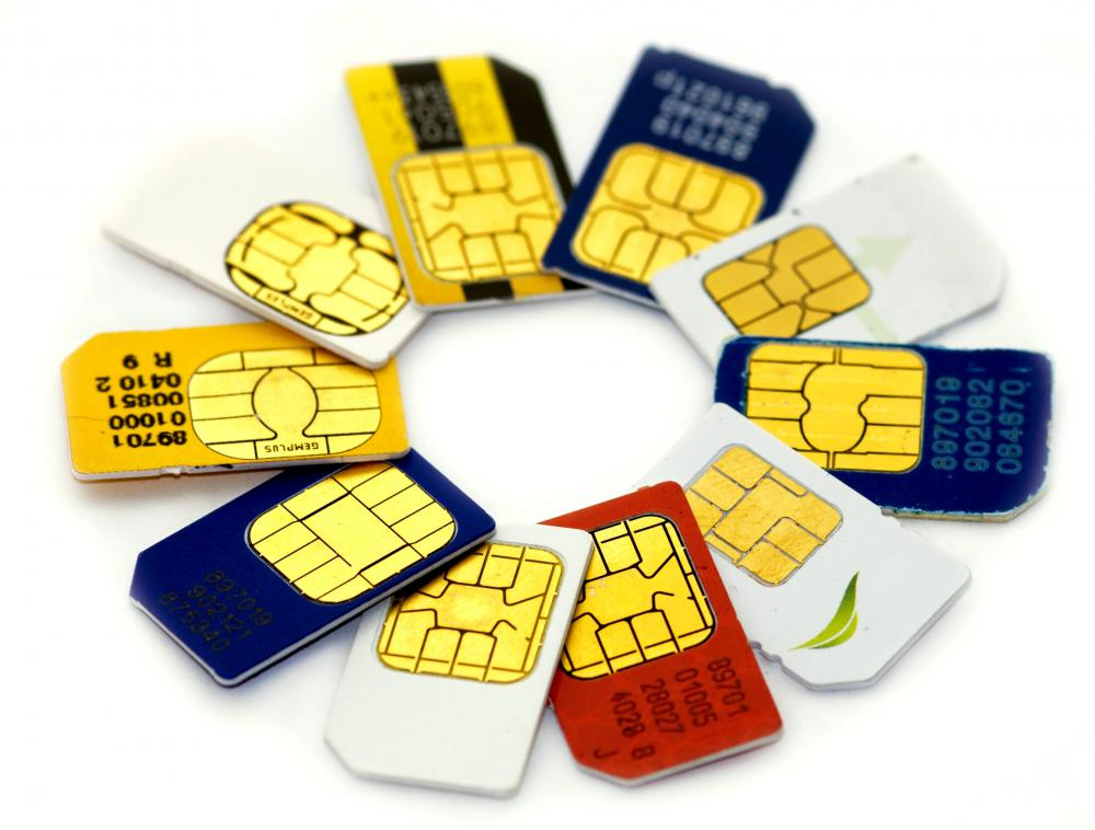 SIM cards for pay as you go phones.