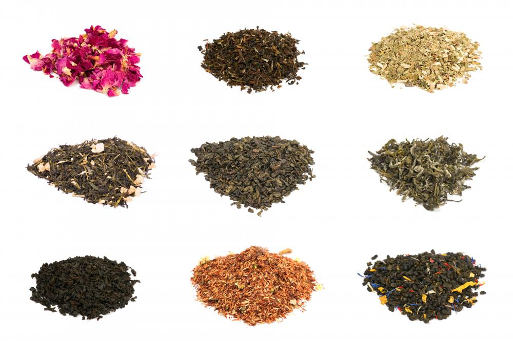 Tea comes in varieties that differ in texture, flavor, and appearance.