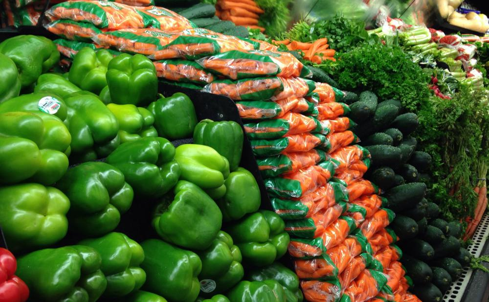 To save money on produce, look for items that are in season.