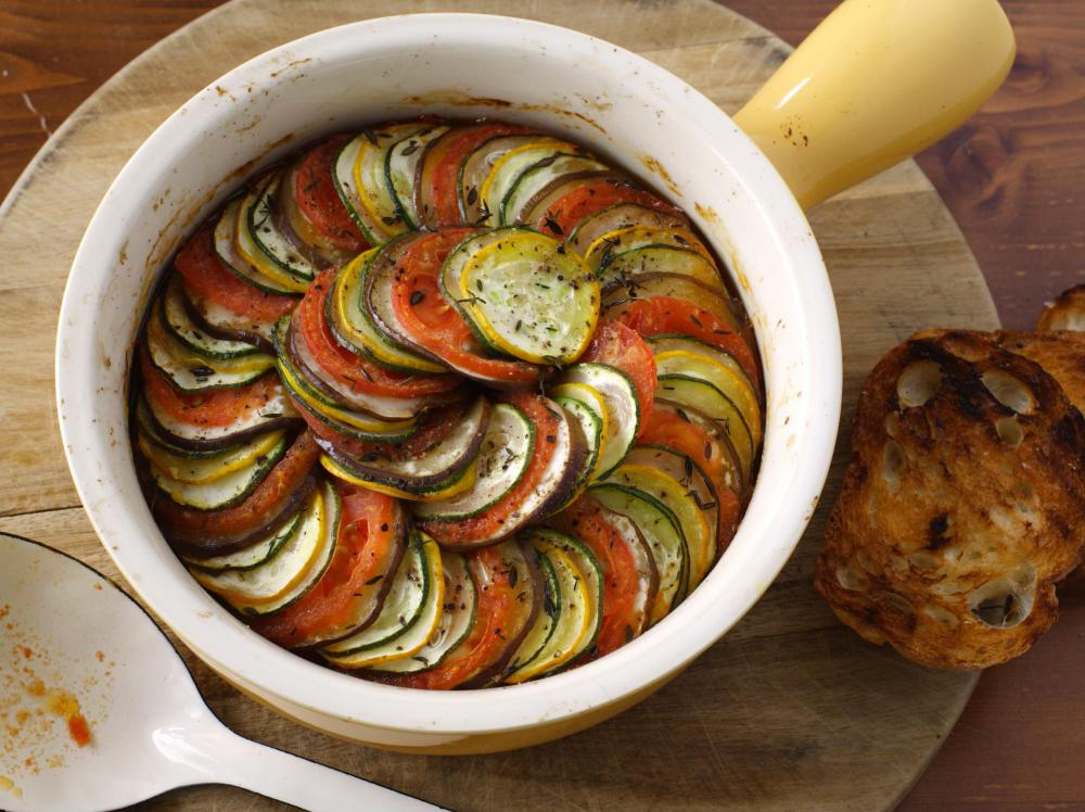 A Christmas casserole may be made entirely of vegetables.