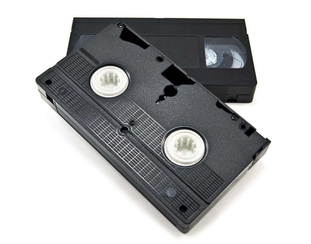Promotional videos were commonly recorded on VHS tapes prior to the rise of digital technology.