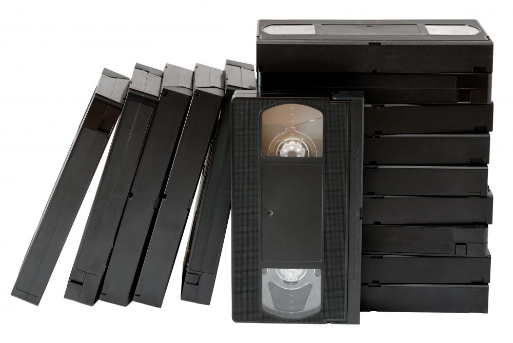 VHS tapes usually have a label that says how much recording time they provide.