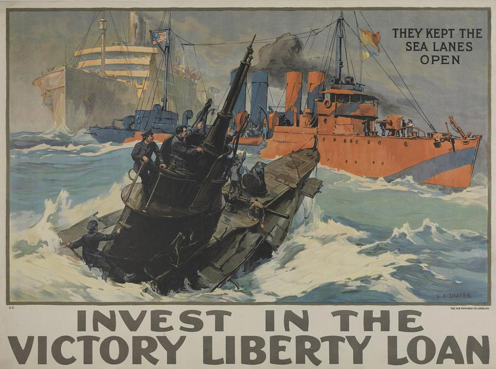 Propaganda posters may have appealed to a viewer's sense of country and faith to sell a product.