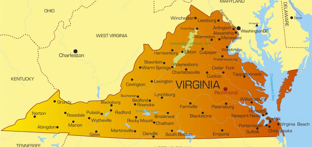 Virginia is among the states in the Bible Belt.