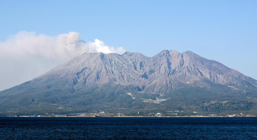 Japan contains numerous active volcanoes.