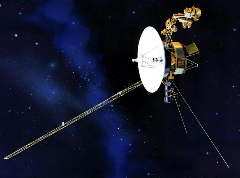 Voyager 1 and 2 were sent into space with greetings in 55