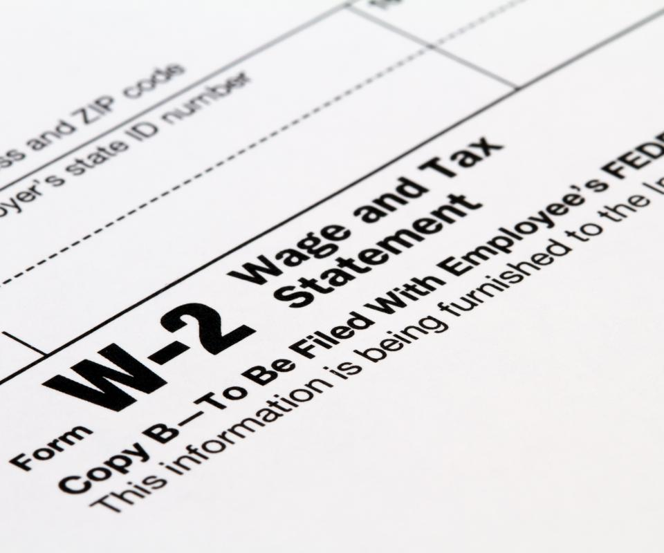 A W-2 wage and tax statement.