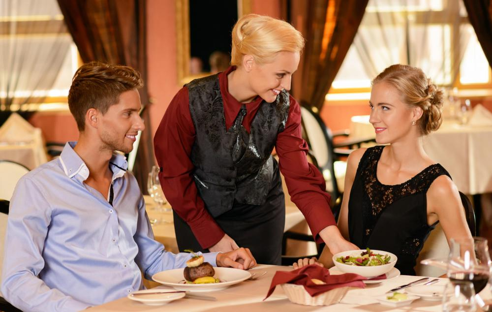 fine dining proper table service. in some regions of the world food is served consistently from right to left, while other parts it left right. fine dining proper table service e