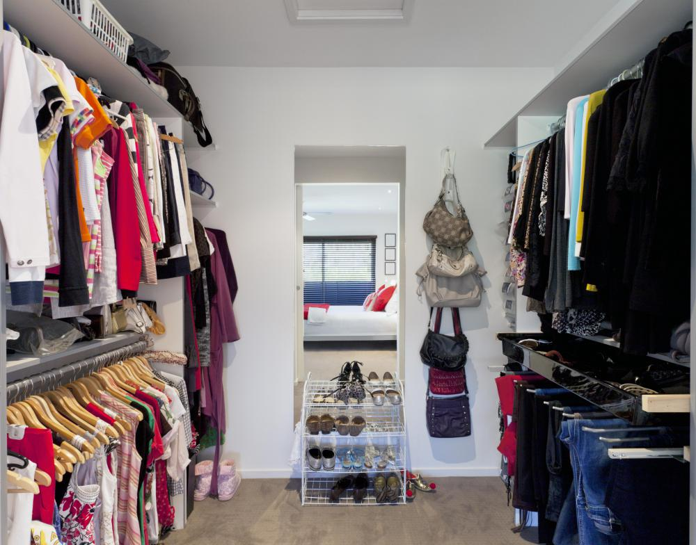 Some closets may use a jamb switch to activate a light as the door is opened.