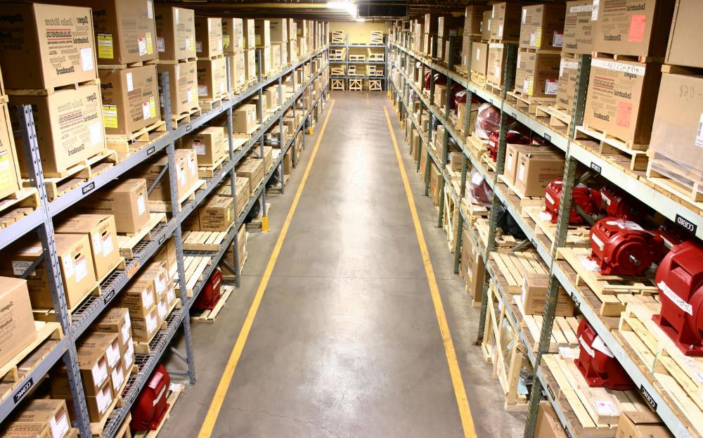A distribution center houses goods that are later distributed to wholesalers and retailers.