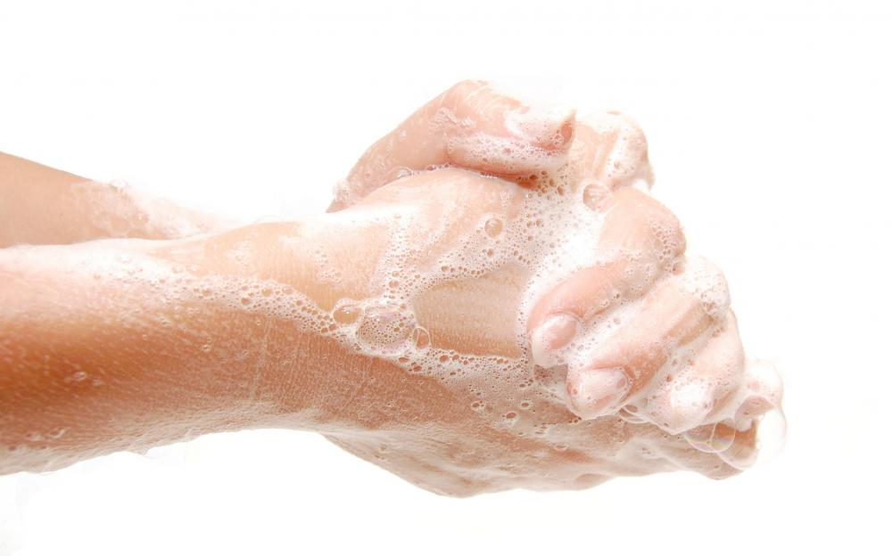 Washing hands with antibacterial soap when there's a cut present can prevent boils from forming.