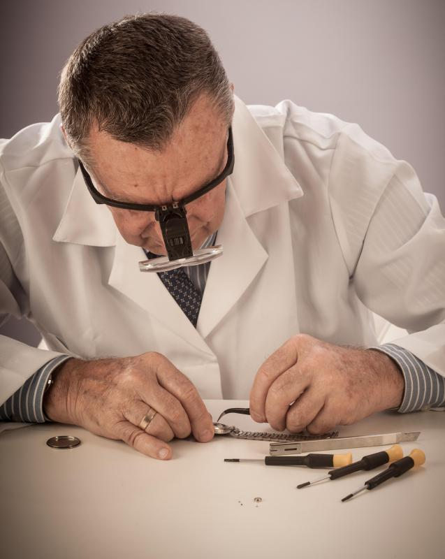 A slotted screwdriver may be utilized in watch making.