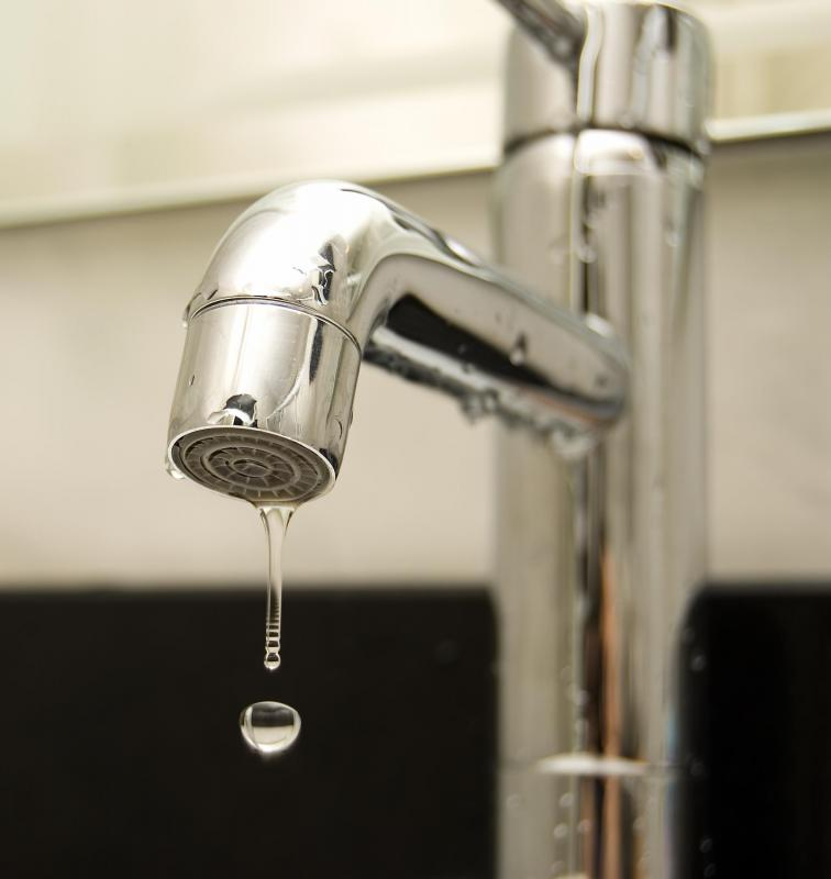 Washers help prevent faucets from leaking.