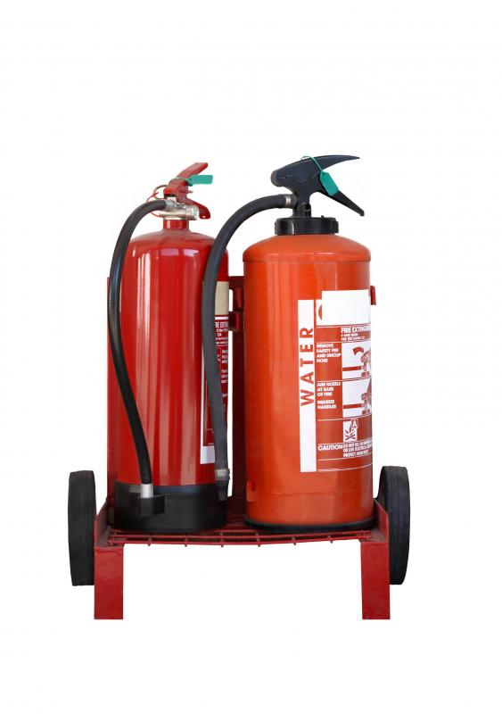 A water-based fire extinguisher is only rated for common combustibles.