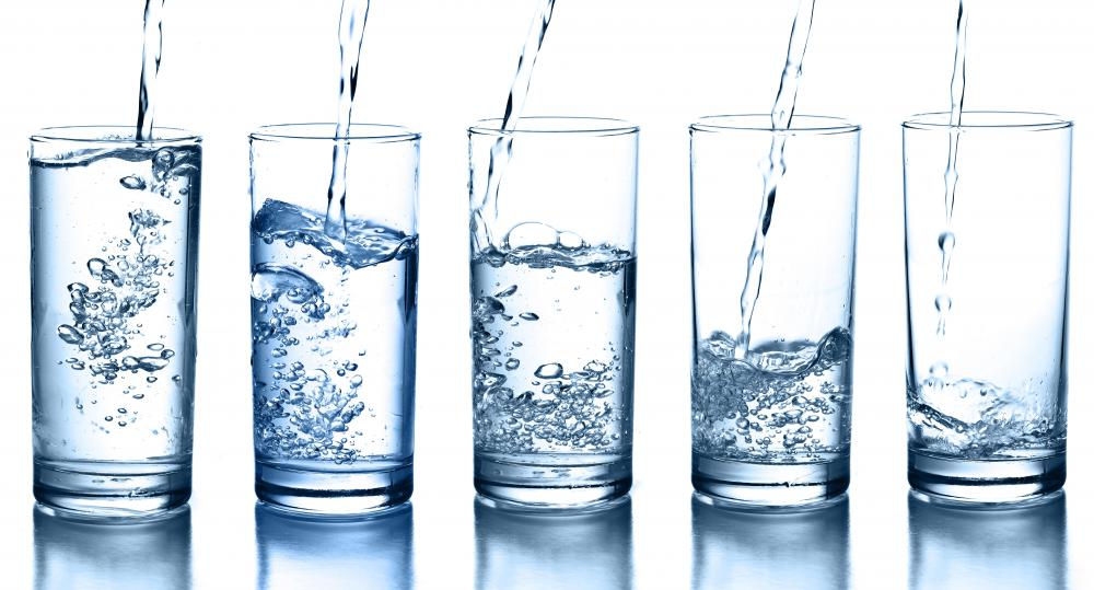 Drinking water can help prevent dehydration on a flight.