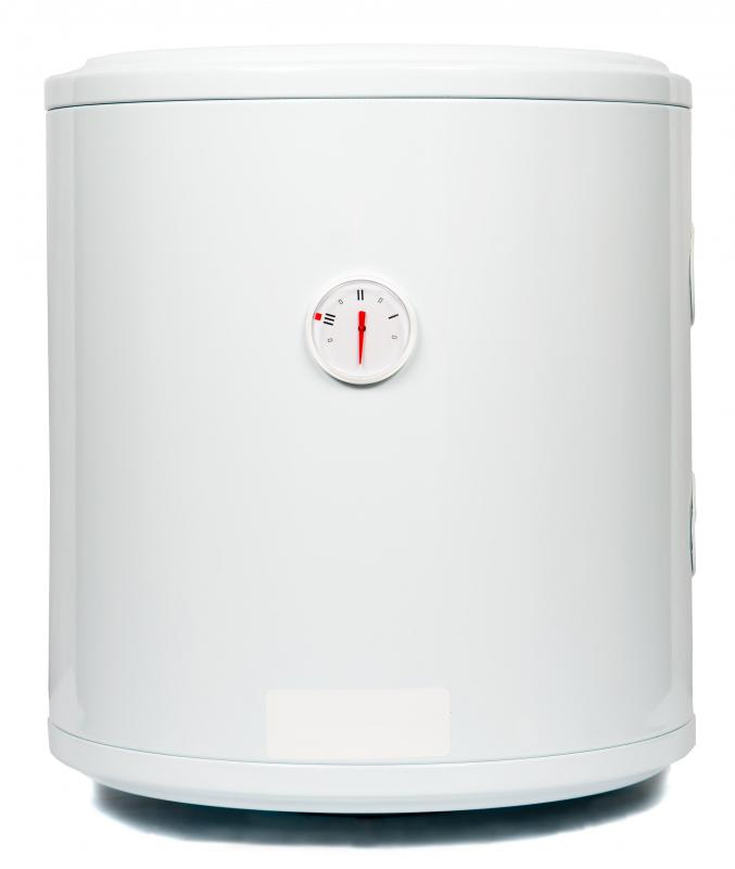 A hot water heater.