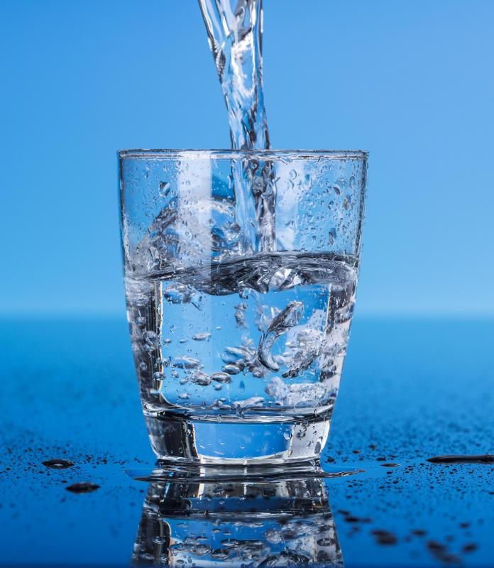 Some people use salt water softeners to remove minerals from drinking water.