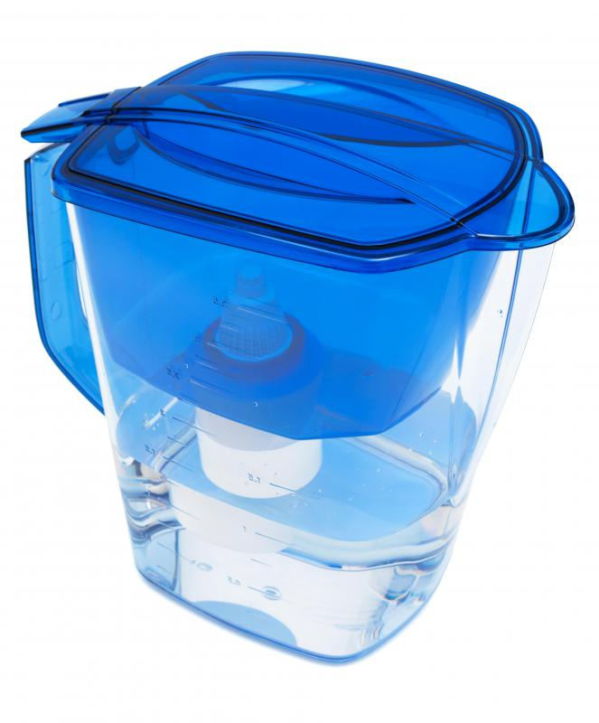 Drinking water can be purified via a filter built into a pitcher.