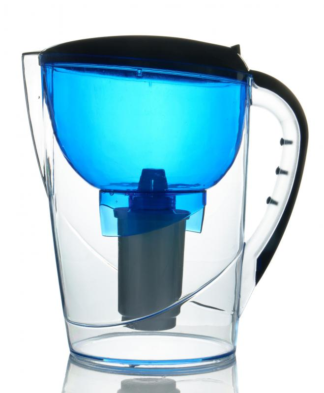 Tap water can be filtered in a filtration pitcher.