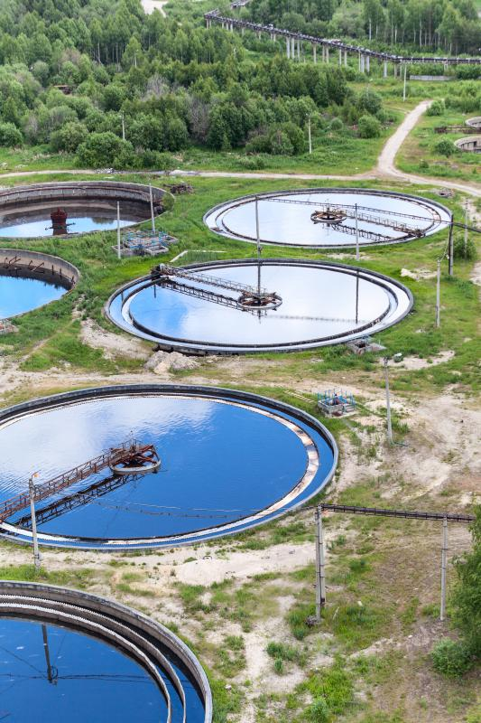 Water treatment plants remove chemicals, bacteria, and other harmful substances from waste water.