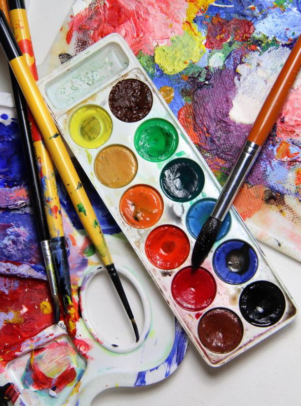 Art projects for older children might include painting with watercolors.