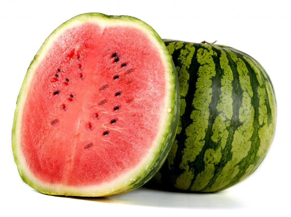 Watermelon contains vitamin A.