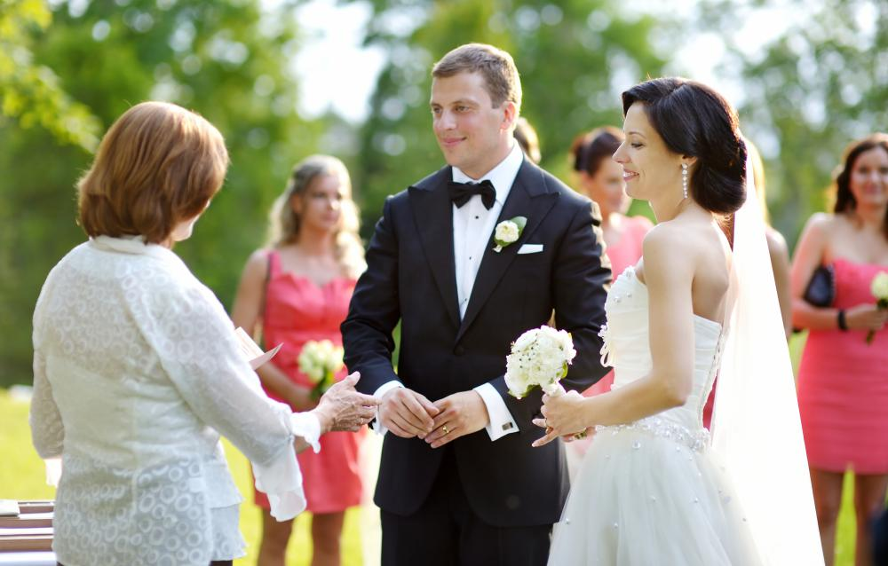 Destination wedding packages may provide an officiant.