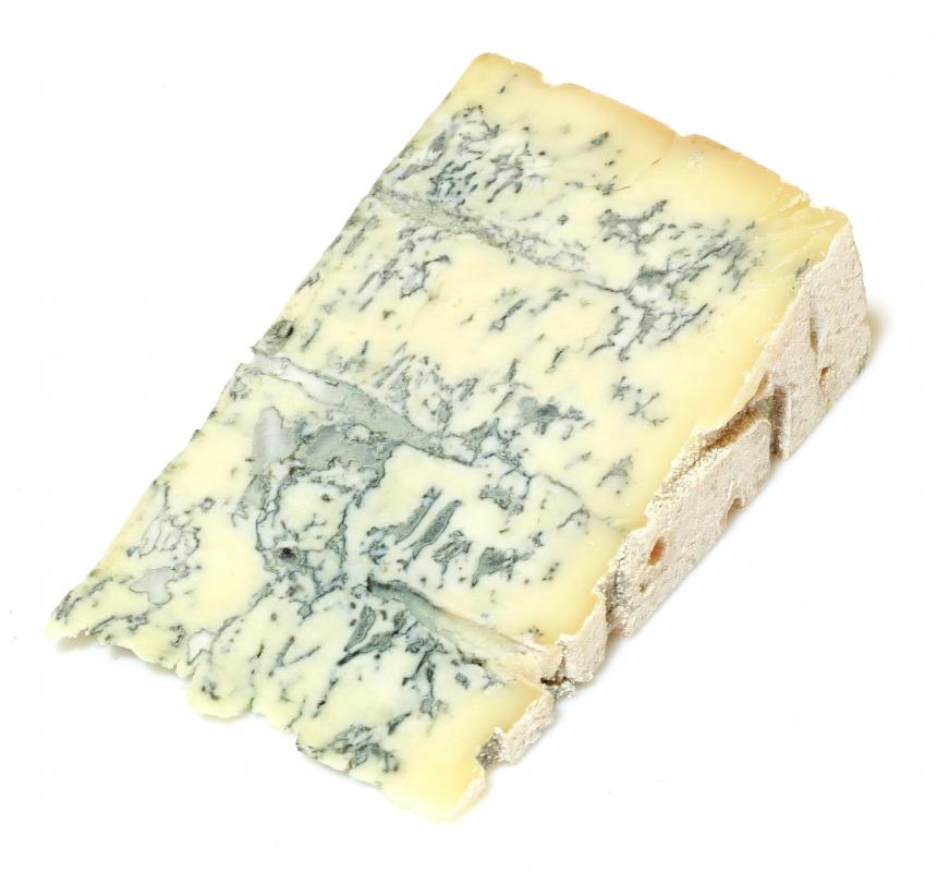 Blue cheese, which is often used to top buffalo chicken burgers.