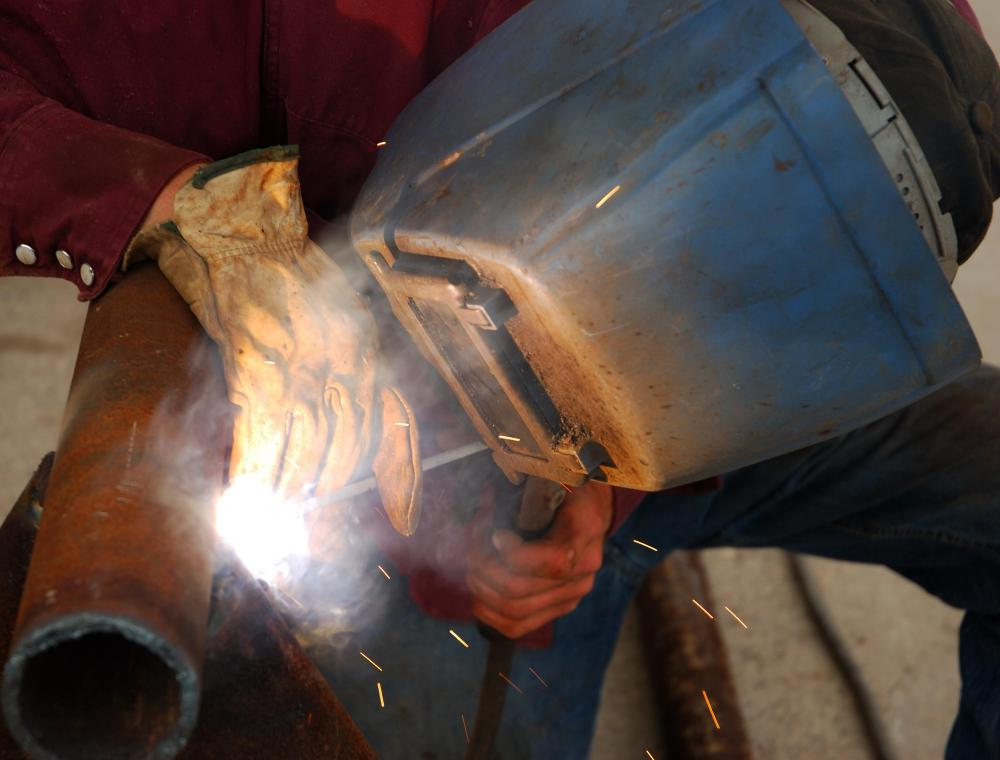 Welding is the act of joining two metals by heating them.