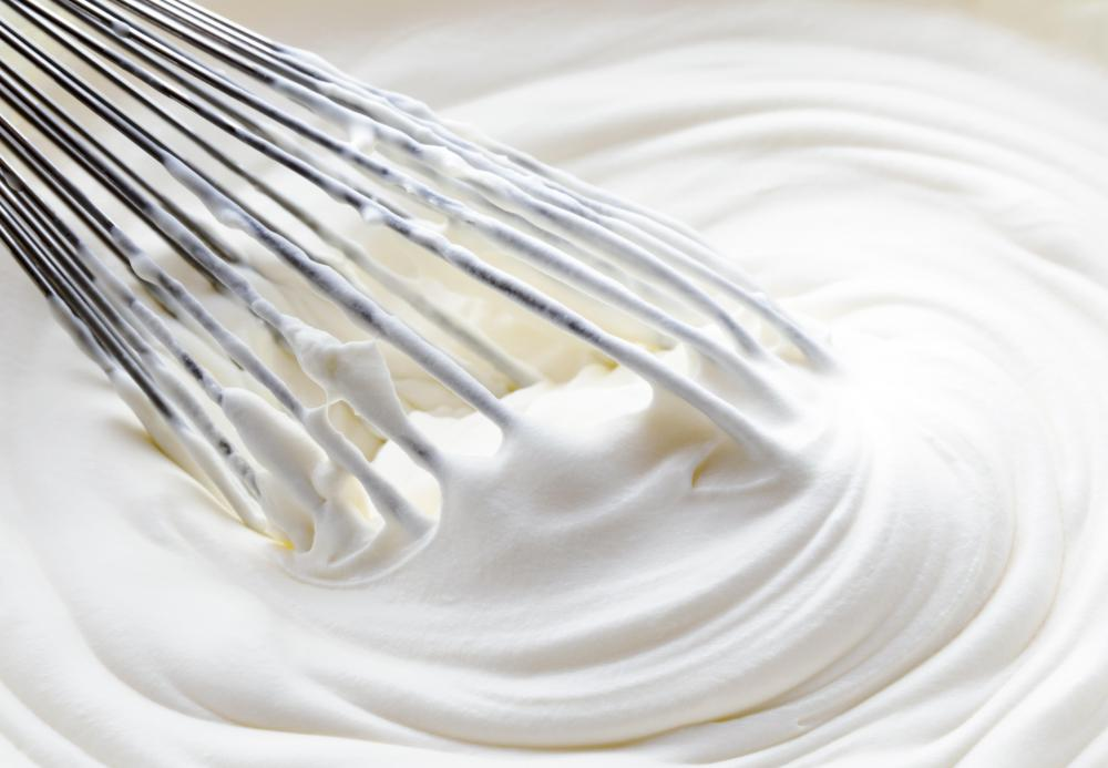 Cake frosting can be made from whipped cream.