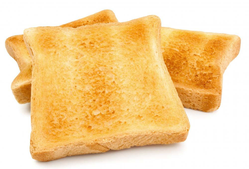Toast, one of the ingredients in milk toast.