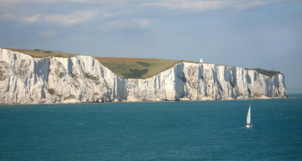 The White Cliffs of Dover are made out of chalk.