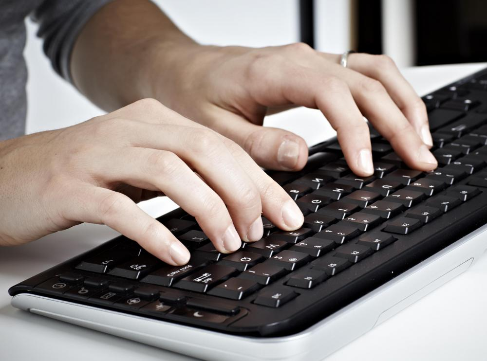 Transcription jobs may require an individual to have the ability to type a minimum number of words per minute.
