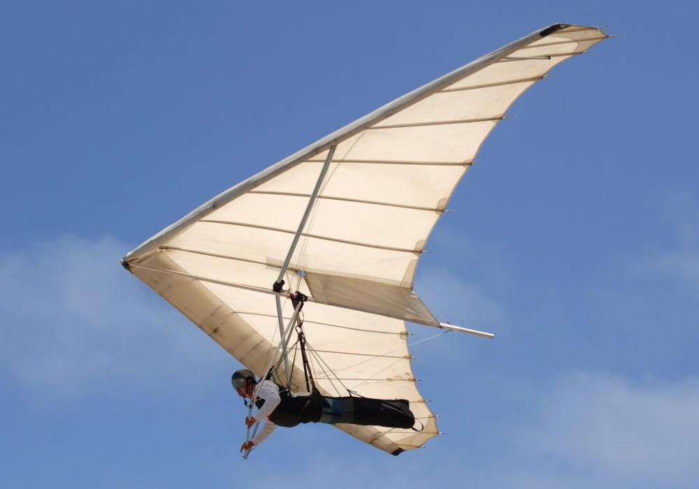 Hang gliding is a common adventure activity.