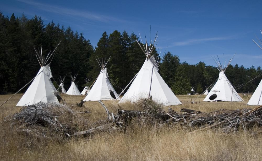 While many people associate tepees with Native American culture, only nomadic tribes lived in them.