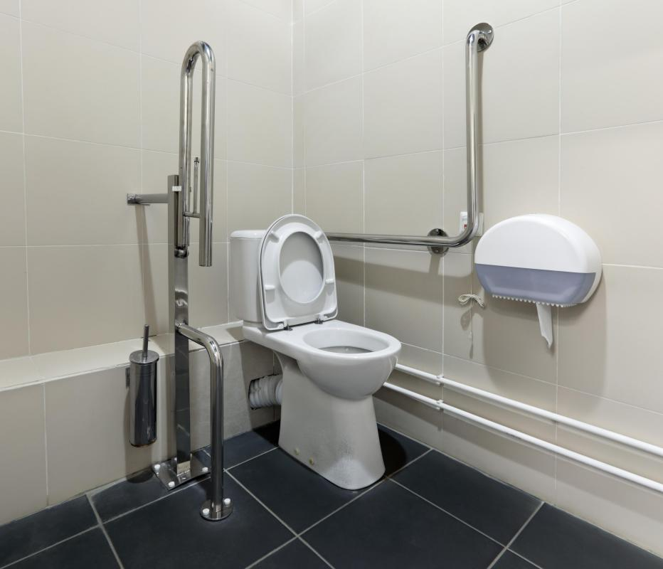 Restrooms can be modified so they are accessible to people who rely on wheelchairs.