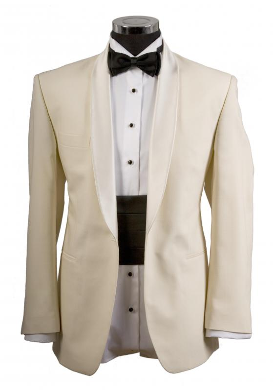 Bridal shows often feature men's tuxedos.